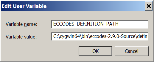 Problem with cygeccodes dll for Cygwin install - CDO